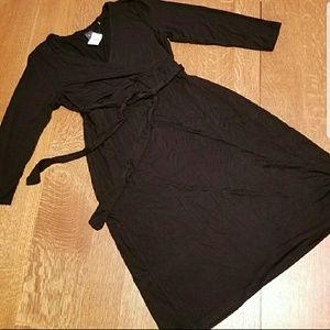 Gap Maternity faux wrap dress with tie
